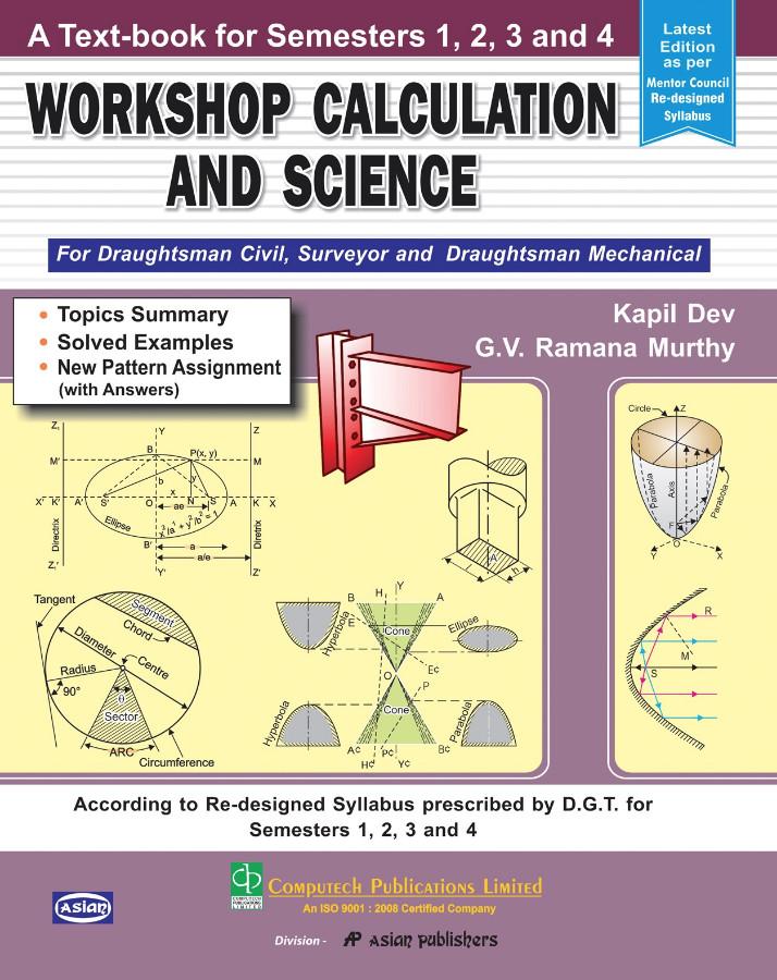 WORKSHOP CALCULATION & SCIENCE SEM 1 TO 4 (D'MAN CIVIL, SURVEYOR, MECH )