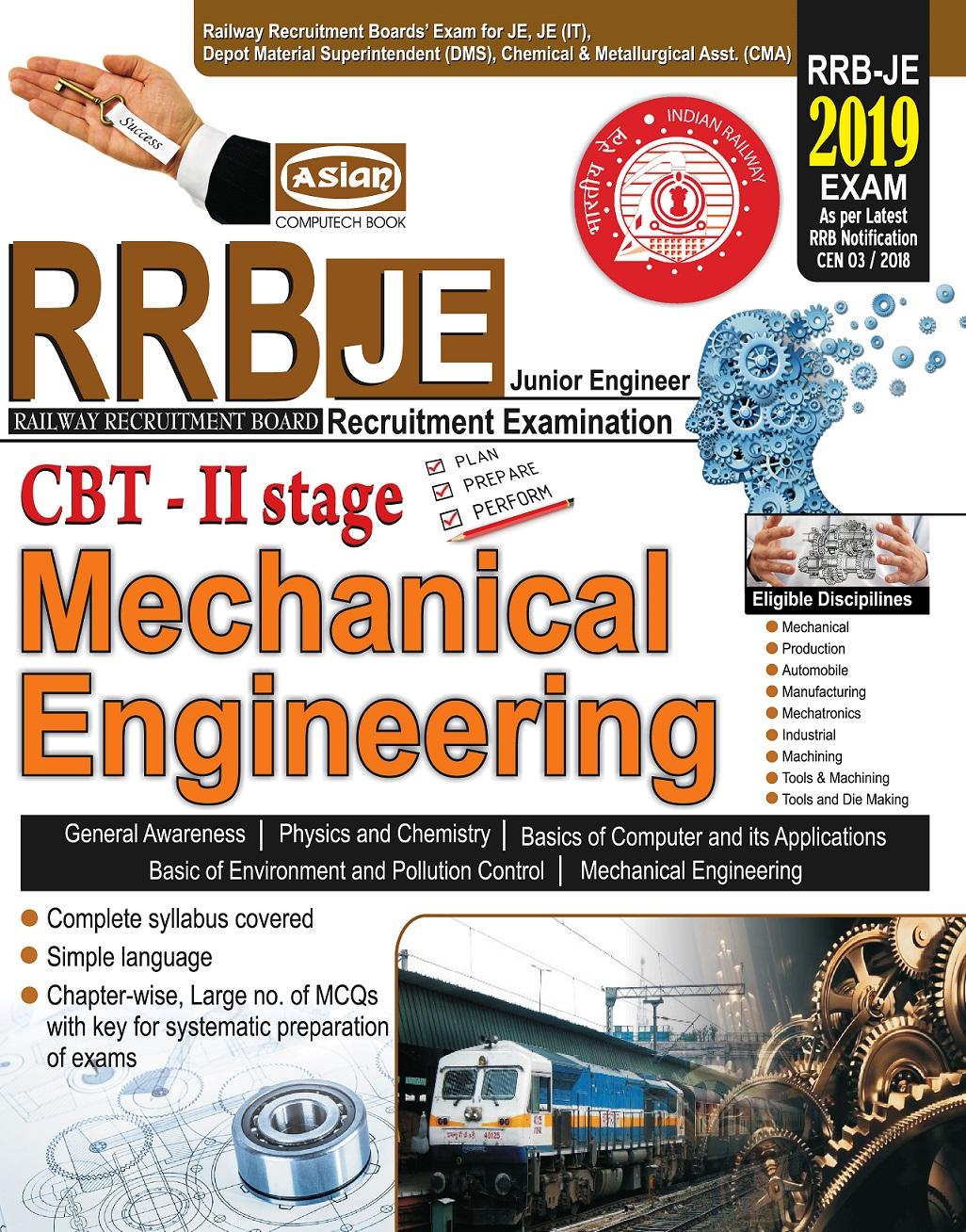 RRB-JE (JUNIOR ENGINEER EXAM) CBT-2 MECH ENGG